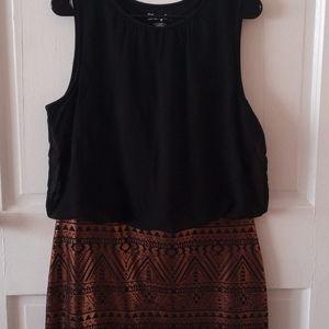 Wrangler Women's Sleeveless Aztec Print Dress
